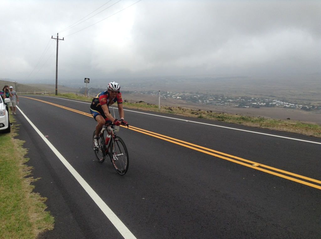 On the final 6.5-mile climb and feeling strong again